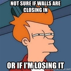 Not sure if troll - not sure if walls are closing in or if i'm losing it