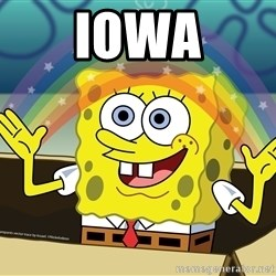 spongebob rainbow - Iowa