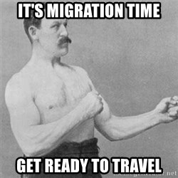 overly manlyman - it's migration time get ready to travel
