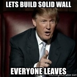 Donald Trump - lets build solid wall everyone leaves