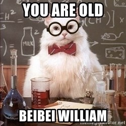 Chemistry Cat - You are old BeiBei William