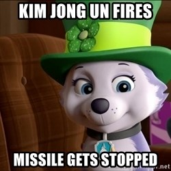 Good Luck Everest  - Kim jong un fireS Missile gets stopped