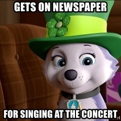 Good Luck Everest  - Gets on newspaper For singing at the concert