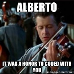 Titanic Band - Alberto it was a honor to coded with you