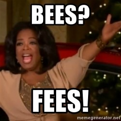 The Giving Oprah - Bees? FEEs!