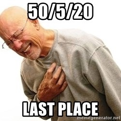 Old Man Heart Attack - 50/5/20 Last Place