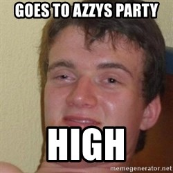 really high guy - Goes to azzys party High