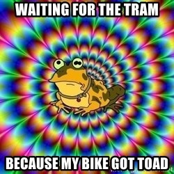 hypno toad - Waiting for the tram because my bike got toad