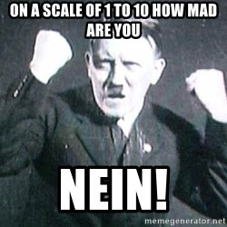 Successful Hitler - on a scale of 1 to 10 how mad are you NEIN!