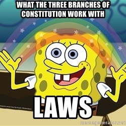 spongebob rainbow - What the three branches oF constitution work with LawS