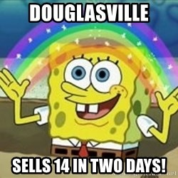Bob esponja imaginacion - Douglasville SElls 14 in two days!