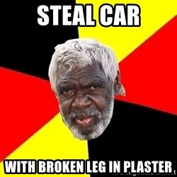 Abo - StEal car With broken leg in plaster