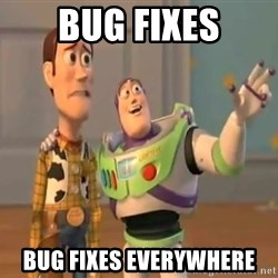 X, X Everywhere  - Bug Fixes Bug fixes Everywhere