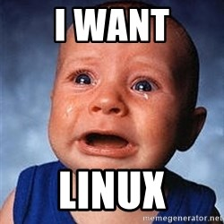 Crying Baby - I WANT LINUX