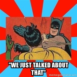 "Batman Bitchslap - ""We just talked about that"""