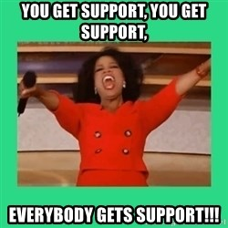 Oprah Car - You get support, you get support, everybody gets support!!!