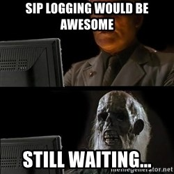 Waiting For - SIP LOGGING WOULD BE AWESOME STILL WAITING...