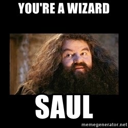 You're a Wizard Harry - you're a wizard saul
