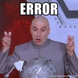 Dr. Evil Air Quotes - Error