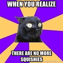 Anxiety Cat - When you realize  There are no more squishies