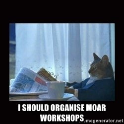 i should buy a boat cat - I should organise moar workshops