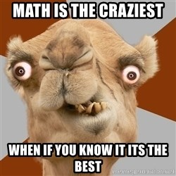 Crazy Camel lol - MATH IS THE CRAZIEST  WHEN IF YOU KNOW IT ITS THE BEST