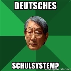 High Expectations Asian Father - Deutsches schulsystem?