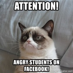 Grumpy cat good - ATTENTION! ANGRY STUDENTS ON FACEBOOK!