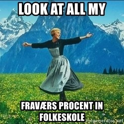 Look at all the things - Look at all my  Fraværs procent in folkeskole