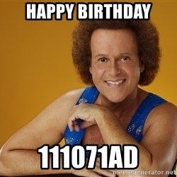 Gay Richard Simmons - happy birthday 111071ad