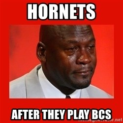 crying michael jordan - hornets  after they play bcs
