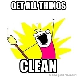 clean all the things blank template - Get all things  Clean