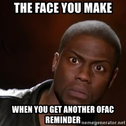 kevin hart nigga - the face you make when you get another ofac reminder