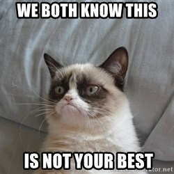 Grumpy cat good - we both know this   is not your best