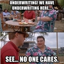 See? Nobody Cares - underwriting! we have underwriting here.... see... no one cares.