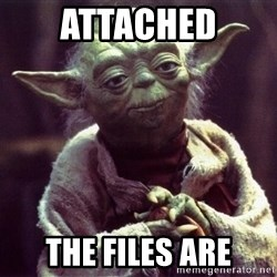 Yoda - Attached The Files are