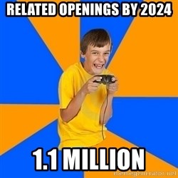 Annoying Gamer Kid - related openings by 2024 1.1 million