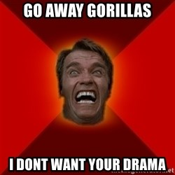 Angry Arnold - GO AWAY GORILLAS I dont want your drama