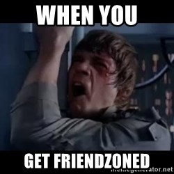 Luke skywalker nooooooo - When you  get friendzoned