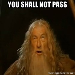 Gandalf You Shall Not Pass - YOU SHALL NOT PASS
