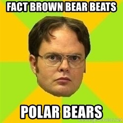 Courage Dwight - Fact brown bear beats  Polar bears