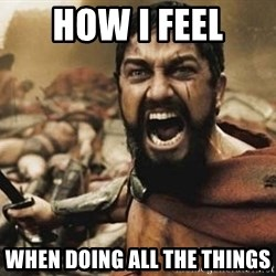 300 - how i feel when doing all the things