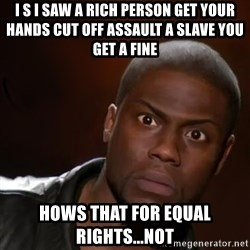 kevin hart nigga - I s I saw a rich person get your hands cut off assault a slave you get a fine  Hows that for equal rights...not