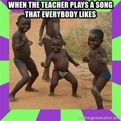 african kids dancing - When the teacher plays a song that everybody likes