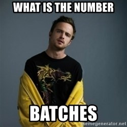 Jesse Pinkman - What is the number batches