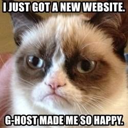 Angry Cat Meme - I just got a New website.  G-host made me so happy.