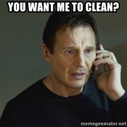 taken meme - you want me to clean?