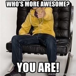 Justin Bieber Pointing - Who's more awesome? You are!