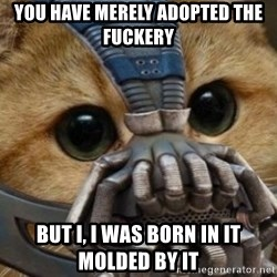 bane cat - You have merely adopted the fuckery But I, I was born in it molded by it