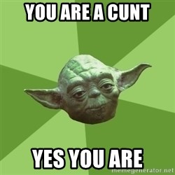 Advice Yoda Gives - You are a cunt Yes you are